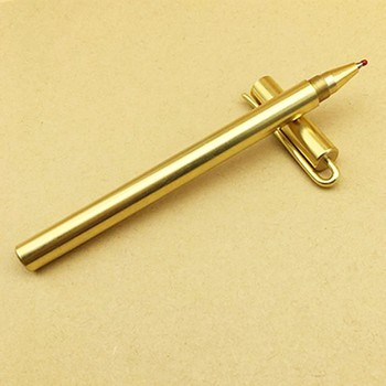 Bút ký cao cấp bằng đồng có móc cài áo tiện lợi. Tặng kèm túi nhung - ...