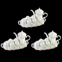 Combo 3 Bộ ấm chén bát tràng pha trà men sần  sứ trong cao cấp L0 22-1