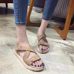 Sandal đế cao su quai chéo êm chân Ảnh thật