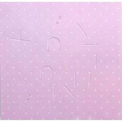 Hộp giấy đựng phụ kiện tóc handmade 17x17x3cm