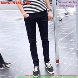 Quần jean nam màu xanh đen rách xước nhẹ
