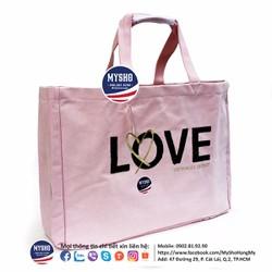 Túi Tote màu hồng cực xinh - Hàng USA chính hãng