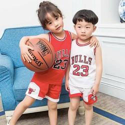 Quần áo bóng rổ trẻ em Chicago Bulls trắng