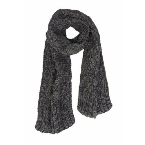 Khăn len lông chồn xuất khẩu màu xám đậm - KH188