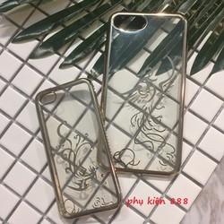 Ốp lưng Iphone 5 5s 7Plus silicon dẻo họa tiết vàng