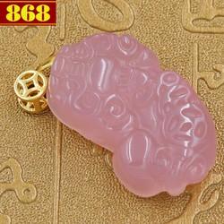 Mặt dây chuyền Tỳ hưu đá ngọc tủy hồng
