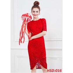 Đầm ren body viền hoa tay lở cao cấp