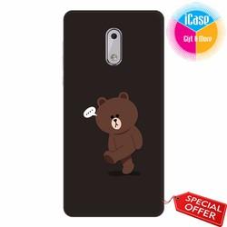 Ốp lưng Nokia 6 - Nhựa dẻo in hình Gấu Brown