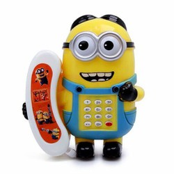 Điện thoại hoạt hình Minion có đèn và nhạc vui nhộn cho bé