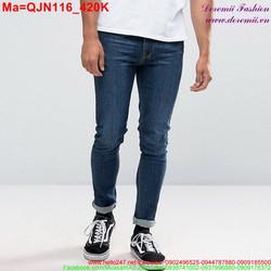 Quần jean nam màu xanh đơn giản trẻ trung