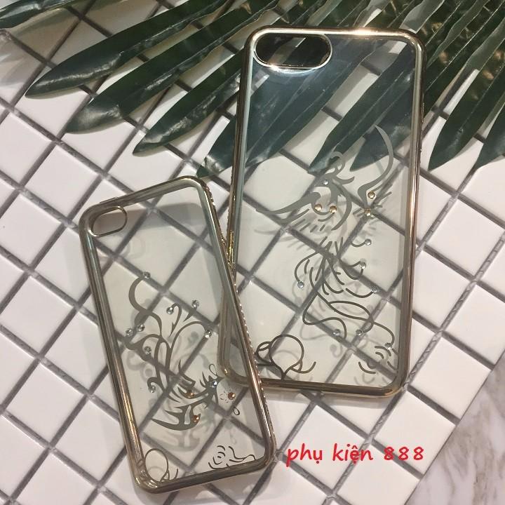 Ốp lưng Iphone 5 5s 7Plus silicon dẻo họa tiết vàng 1
