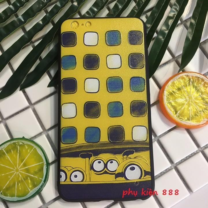 Ốp lưng Iphone 6 Plus minion ô vuông 3