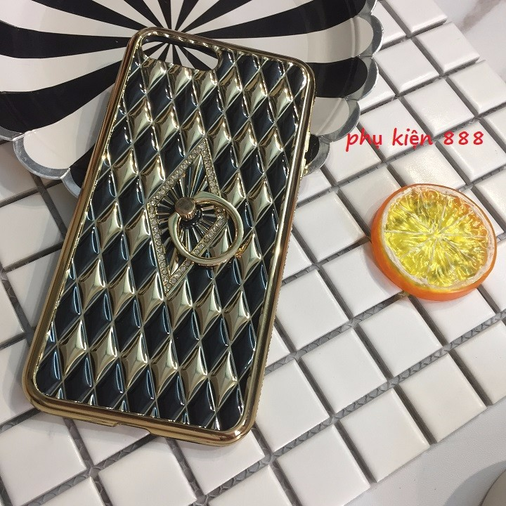 Ốp lưng Iphone 7 Plus silicon dẻo kim cương móc tay viền đá 5