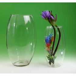 bình cắm hoa, thả cá cảnh thủy tinh 13x20cm