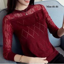 Áo len nữ pha ren kiểu Hàn Quốc - giá 260k -TX4830