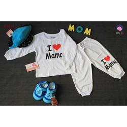 S34B - SET ĐỒ DÀI HÌNH I LOVE MAMA