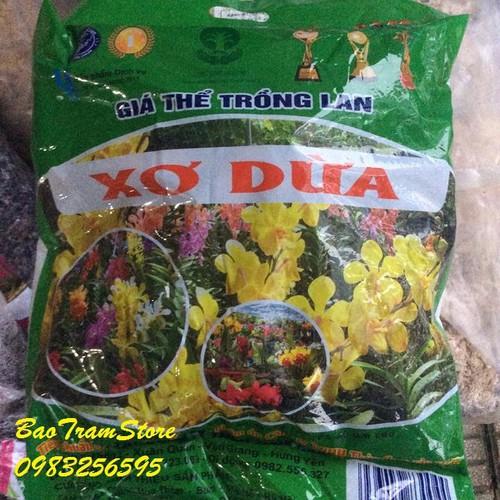 Xơ dừa băm miếng, giá thể giữ ẩm cho lan túi 300g