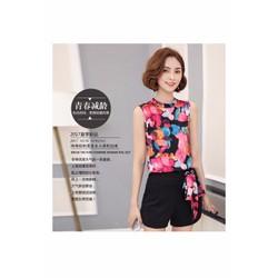 Set áo hoa quần short siêu xinh hàng nhập