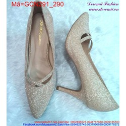 Giày cao gót mũi nhọn thiết kế nữ tính GCN291
