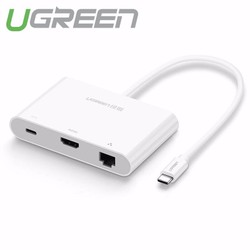 Cáp USB-C to HDMI + Hub USB 2.0 USB 3.0 100Mbps Ugreen 30440