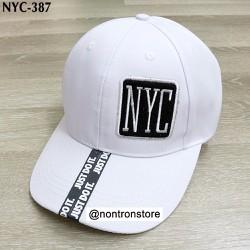 Nón thời trang NYC cao cấp - trắng