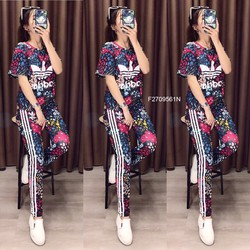 Set bộ thun Adi quần dài hàng nhập! MS: S270921 Giá sỉ: 165k