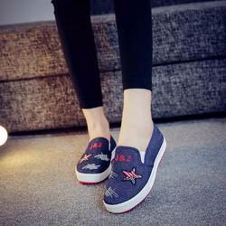 Giày mọi nữ vải Jean sành điểu