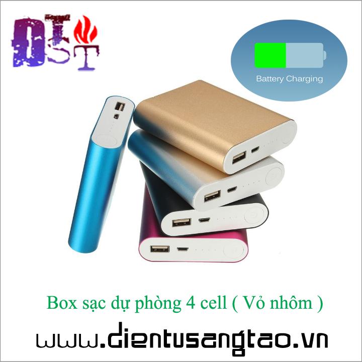 Box sạc dự phòng 4 cell  - Vỏ nhôm 1