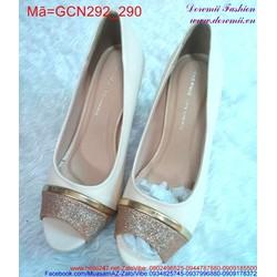 Giày cao gót hở mũi viền vàng sành điệu GCN292