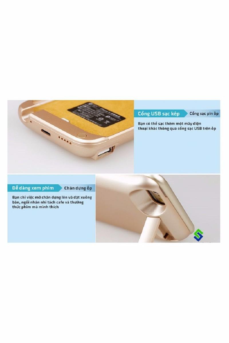 Pin sạc dự phòng 10.000mAh kiêm ốp lưng thời trang cho iPhone 6 5