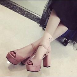 Giày sandal cao gót trụ sành điệu