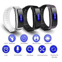 Vòng tay theo dõi sức khỏe thông minh kiêm tai nghe Bluetooth FX-3
