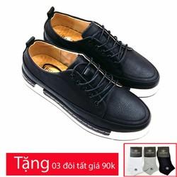 Giày sneaker nam da thật kiểu dáng trẻ trung năng động AD8801DD