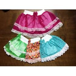 Set 4 chân váy kiểu kèm quần cho bé gái