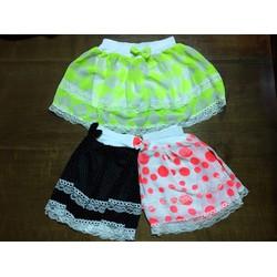 Set 3 chân váy kiểu kèm quần cho bé gái