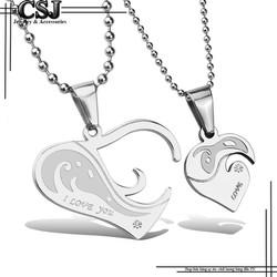 Dây chuyền cặp đôi trái tim lồng đẹp - giá rẻ