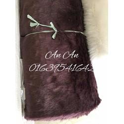 Thảm lông màu tím