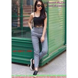 Quần kaki nữ lưng cao phong cách sành điệu QKU1