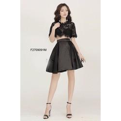 Set áo ren crop chân váy phi xèo thiết kế! MS: S270959 Giá sỉ: 190K