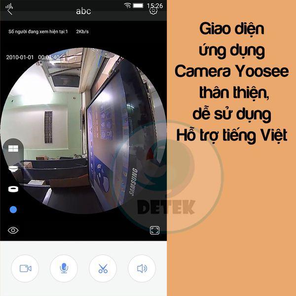 Camera IP VR Yoosee X9200 siêu nhỏ 360 độ HD 720P Mini 2