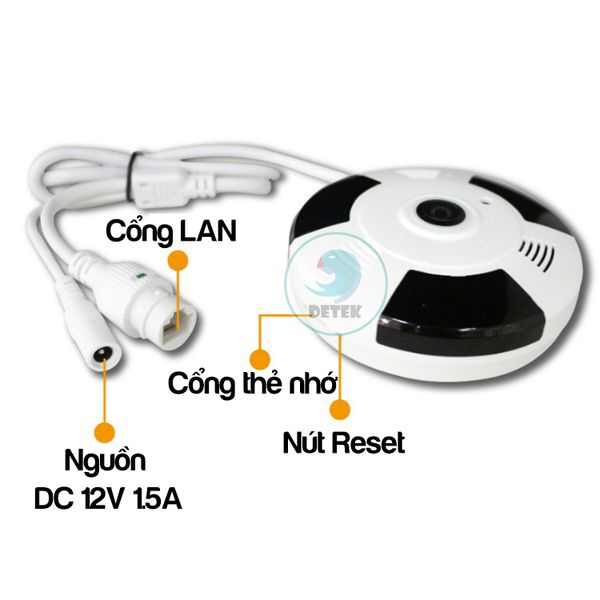 Camera IP VR Yoosee X9200 siêu nhỏ 360 độ HD 720P Mini 12