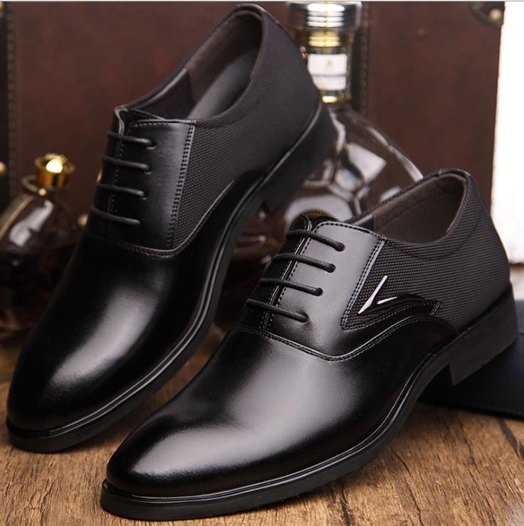 Giày da cao cấp   Giày tây da bò 1