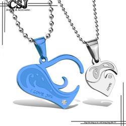 Dây chuyền cặp đôi  trái tim lồng đẹp - giá rẻ -