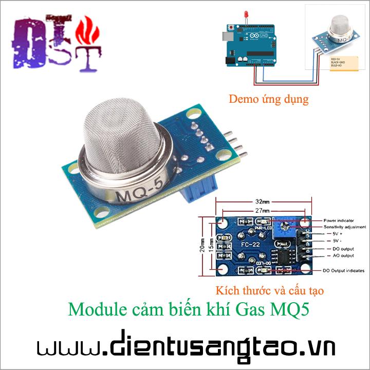 Module cảm biến khí gas MQ5 1