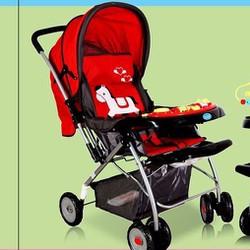 xe đẩy trẻ em 2 chiều có nhạc