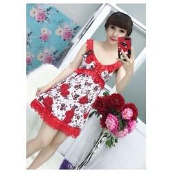Đầm mặc nhà họa tiết xinh xắn