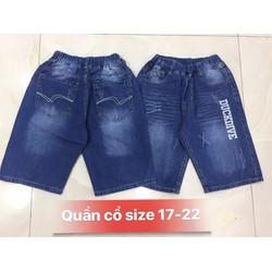 Quần short jean lưng thun size cồ cho bé trai từ 40-60kg