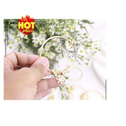 Vòng tay cách điệu bông hoa giá rẻ đẹp màu vàng