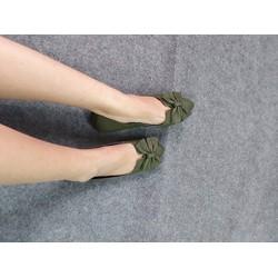 Giày búp bê nơ xòe