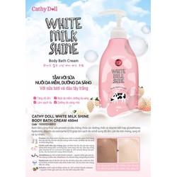 Sữa tắm sữa bò Cathy Doll White Milk Shine Body Bath cream